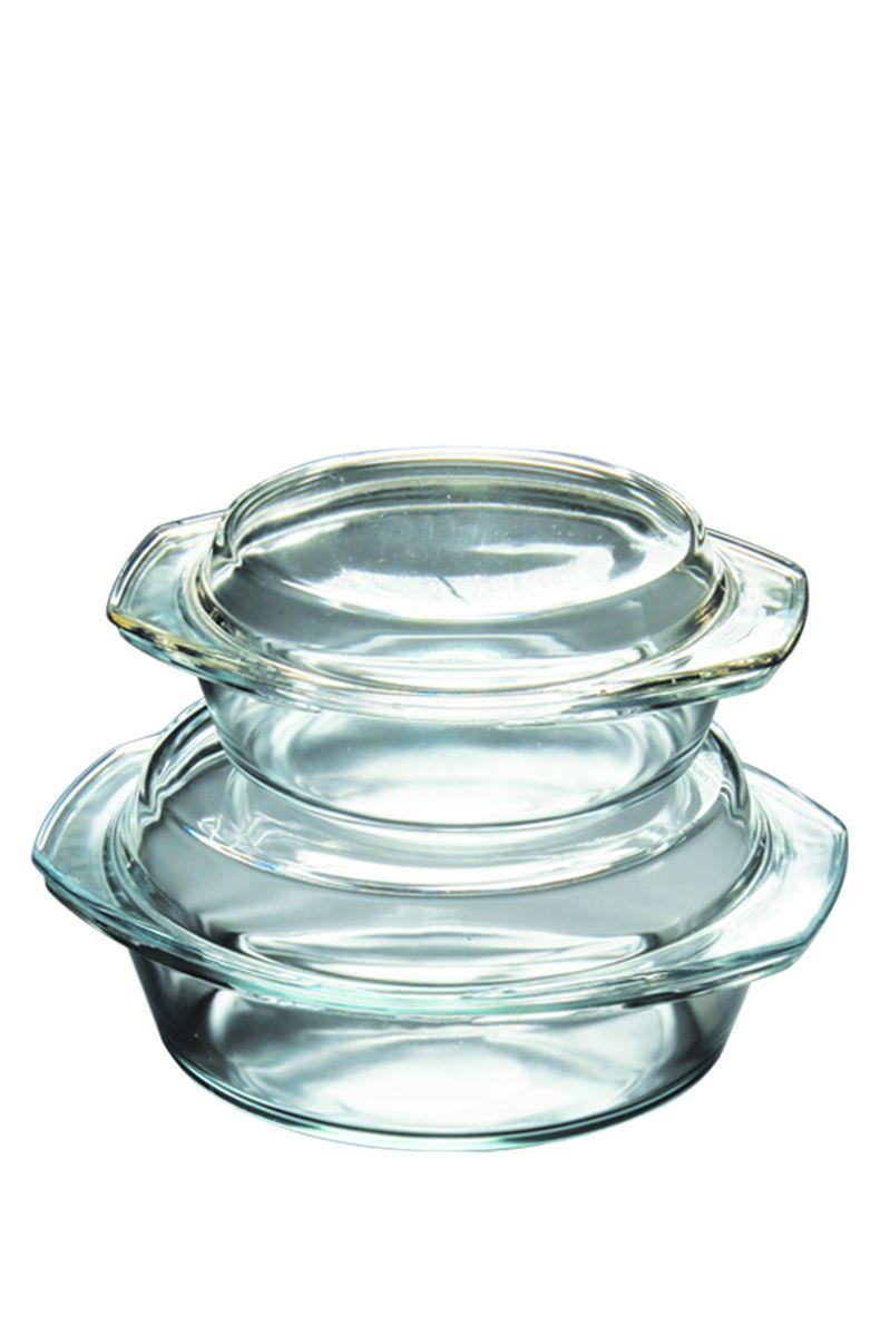 Набор термостойкой посуды Axon, 1 л и 2 лG-711Набор кастрюль из термостойкого стекла Axon с крышками для приготовления блюд в духовке, микроволновой печи, а также для хранения продуктов в холодильнике и морозильной камере.Объемы кастрюль: 1 л и 2 л.