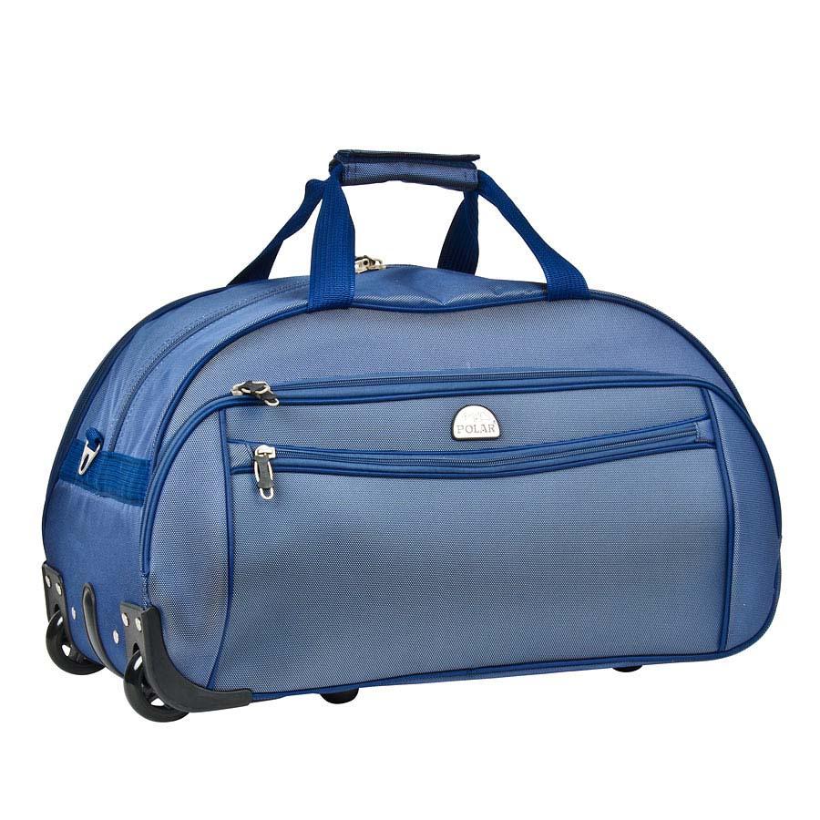 Сумка дорожная Polar, на колесах, цвет: синий, 59 л. 7019.57019.5Сумка на колесах Polar выполнена из текстиля. Основное отделение на подкладке из нейлона. Все стенки сумки пропенены для предотвращения ударных нагрузок. Внутри - карман-сетка. Снаружи - три кармана на молнии. Имеется съемный плечевой ремень, что бы носить сумку через плечо.