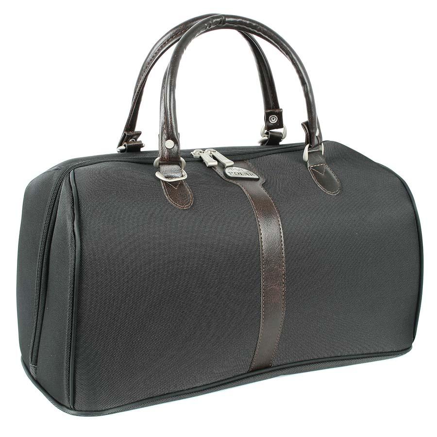 Сумка дорожная Polar, 30 л, цвет: черный. 7028.37028.3Вместительная и удобная дорожная сумка Polar выполнена из высокопрочного материала - кордура. Основноеотделение на молнии с множеством дополнительных отделений и карманов внутри. Также предусмотрен карман на молнии свнешней стороны для фиксирования сумки на ручке чемодана. Ручки выполнены из высококачественногокожзаменителя.