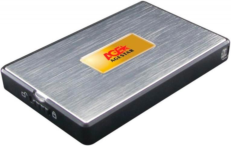Корпус для жесткого диска AgeStar SUB2A11 usb2.0 to 2.5 HDD/SSD SATA, AluminumSUB2A11