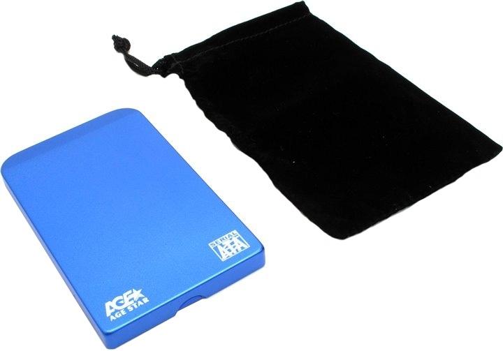 Корпус для жесткого диска AgeStar 3UB2O1 USB3.0 to 2.5hdd SATA, Blue moonlightssecret blue 110