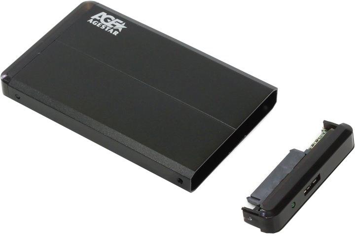 Корпус для жесткого диска AgeStar 3UB2O8 SATA 2.5, Black Aluminium dual remote controller charger w battery for xbox360 wireless joystick black 110 240v