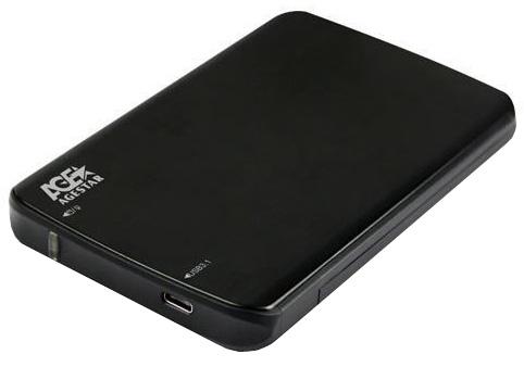 Корпус для жесткого диска AgeStar 31UB2A12C SATA 2.5, Black Aluminium31UB2A12C