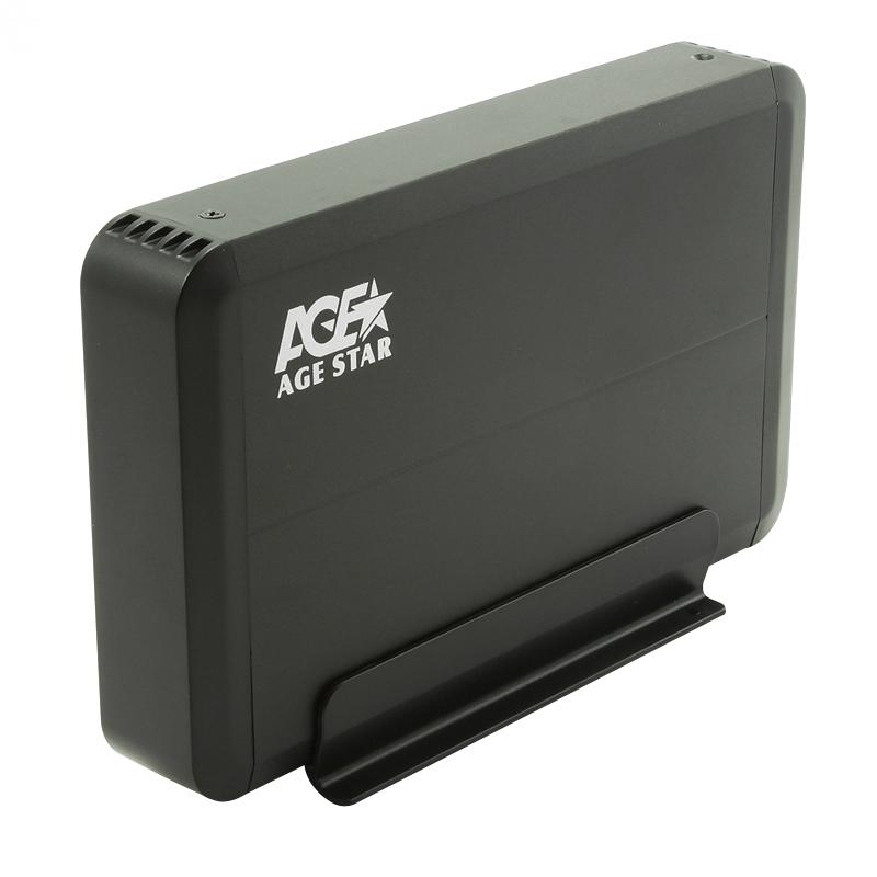 Корпус для жесткого диска AgeStar 3UB3O8 SATA 3.5, Black Aluminium dual remote controller charger w battery for xbox360 wireless joystick black 110 240v