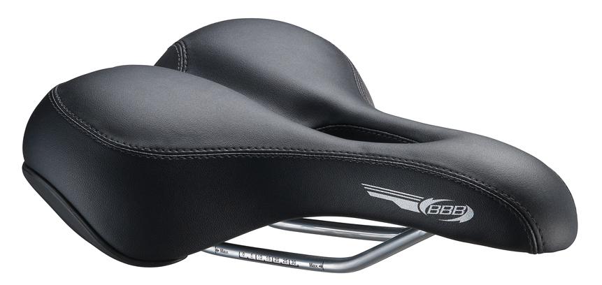 Седло спортивное BBB MemoShape. BSD-17BSD-17Очень комфортное спортивное велосипедное седло с пенными вставками двойной плотности, которые обладают эффектом памяти, приспосабливаясь к человеческому телу.Особенности:- анатомическое отверстие - геометрия ComfortLight - анатомический дизайн - технология Double Density - рамки Satin с матовыми виброгасителями