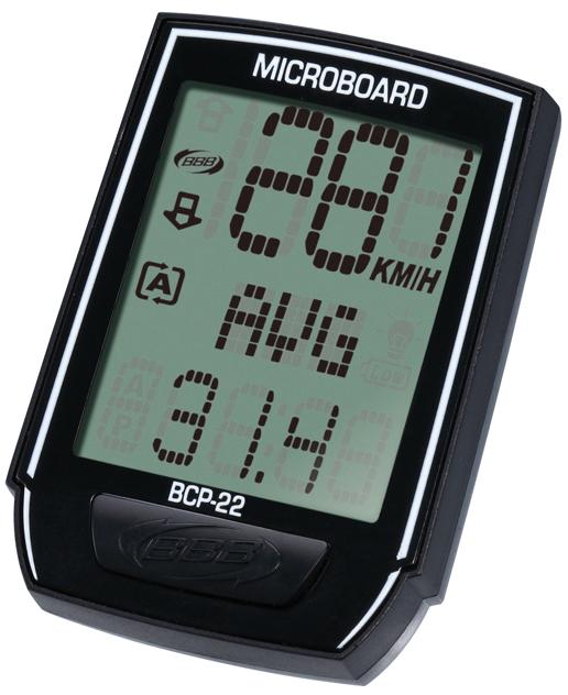 Велокомпьютер BBB MicroBoard, 13 функцийBCP-22Велокомпьютер BBB MicroBoard предназначен для использования при занятиях велоспортом. Это удобный и простой в использовании электронный прибор, предоставляющий велосипедисту всю необходимую информацию о поездке. Корпус изделия выполнен из прочного пластика.Функции велокомпьютера:Текущая скорость Средняя скорость Поездка расстояние Устанавливается метр ОДО Часы Индикатор разрядки батареи Автоматическое сканирование Автоматический запуск/остановка Максимальная скорость Езда время Общее время езды Скорость иноходца Подсветка.