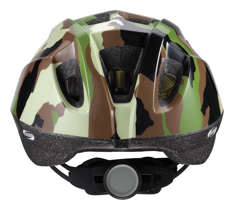 """Легкий и надежный велосипедный шлем BBB """"Boogy"""" предназначен для детей. Имеет 12 вентиляционных отверстий, обеспечивающих комфорт во время ношения. Встроенная сетка защищает ребенка от насекомых. Регулируемые ремни обеспечивают шлему идеальную посадку. Удобная регулировка TwistClose системы, можно регулировать одной рукой. Шлем оснащен моющимися антибактериальными колодками. Светоотражающие элементы сзади обеспечивают безопасность на дороге.Обхват головы: 48-54 см."""