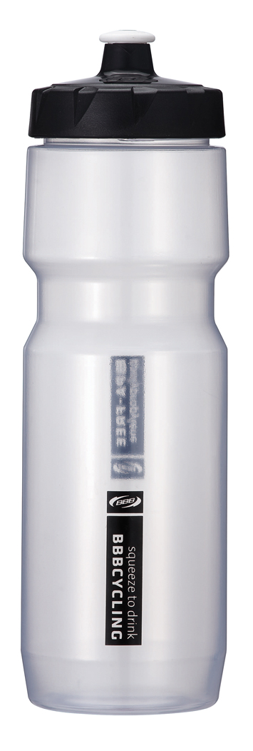 Бутылка для воды BBB CompTank, велосипедная, цвет: прозрачный, черный, 750 мл бутылка для воды sistema hydrate трио цвет фиолетовый 480 мл 820