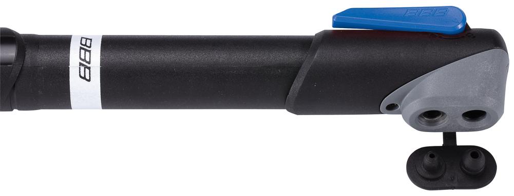 """Велонасос BBB """"WindWave"""" имеет прочный и легкий корпус из композитного материала. Давление до 7bar/100psi. Металлический плунжер обеспечивает быстрое накачивание большого объема воздуха. Насадка DualHead с фиксатором под большой палец. Колпачок предохраняет ниппели от загрязнения.   Подходит для ниппелей Presta, Schrader и Dunlop.    Длина велонасоса: 250 мм.    Гид по велоаксессуарам. Статья OZON Гид"""