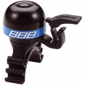Звонок BBB MiniFit, цвет: черный, синий. BBB-16BBB-16Легкий латунный звонок с пластиковыми пружиной и молоточком Можно устанавливать в любом положении Простое крепление подходит ко всем диаметрам рулей Легко ставить и сниматьГид по велоаксессуарам. Статья OZON Гид