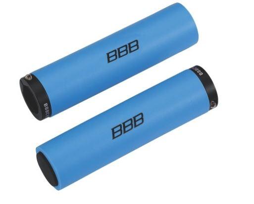 Грипсы BBB StickyFix, 130 мм, цвет: синий. BHG-35 заглушки руля bbb plug