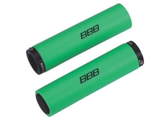 Грипсы BBB StickyFix, цвет: зеленый, 13 см, 2 шт заглушки руля bbb plug