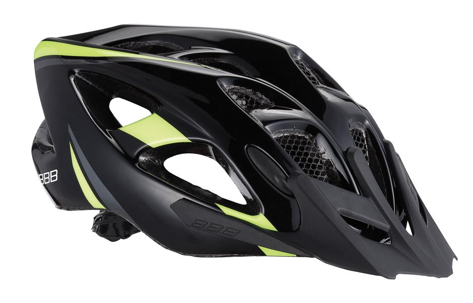 Летний шлем BBB Elbrus, цвет: матовый черный, неоновый желтый. BHE-34. Размер L (57-63 см)BHE-34Интегрированная конструкция. 18 вентиляционных отверстий. Отверстия для вентиляции в задней части шлема для оптимального распределения потоков воздуха. Защитная сетка от насекомых в вентиляционных отверстиях. Настраиваемые ремешки для максимально комфортной посадки. Простая в использовании система настройки TwistClose, можно настроить шлем одной рукой. Съемные мягкие накладки с антибактериальными свойствами и возможностью стирки. Светоотражающие наклейки на задней части шлема. Съемный козырек.Гид по велоаксессуарам. Статья OZON Гид