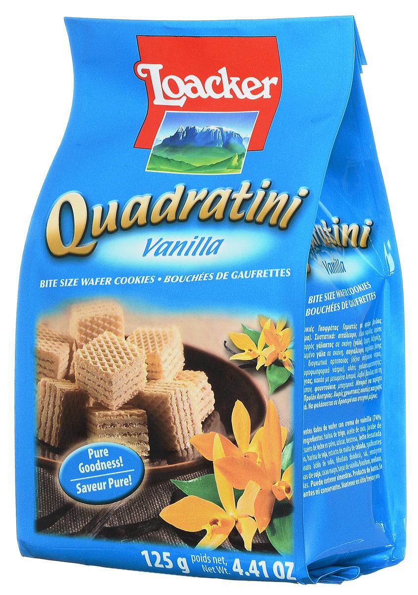 Loacker Квадратини Ваниль вафли, 125 г loacker крем какао вафли 175 г