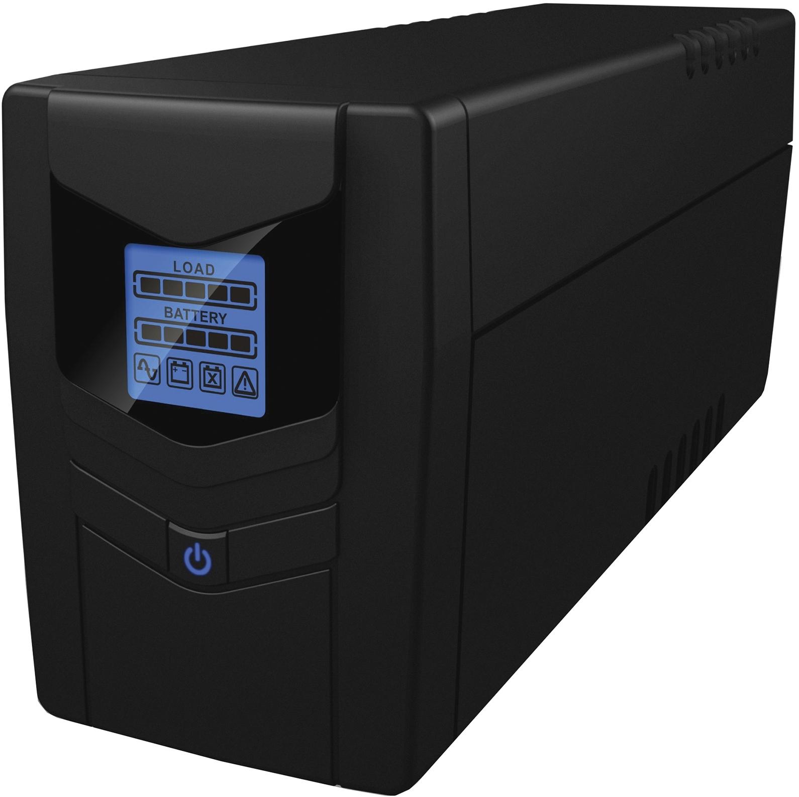 Источник бесперебойного питания Ippon Back Power Pro LCD 600 Euro, Black - Источники бесперебойного питания (UPS)