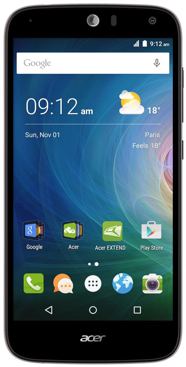 Acer Liquid Z630S, Black SilverHM.HSYEU.002Оцените возможности смартфона Acer Liquid Z630S: продолжительное время автономной работы, превосходную производительность и высочайшее качество изображения на 5.5 HD-дисплее с технологией IPS.Мощный восьмиядерный процессор обеспечивает быстрое время отклика, удобство работы в браузере, плавное воспроизведение видео и прохождение видеоигр на великолепном 5,5 HD-экране. Батарея 4000 мАч и память 32 ГБ обеспечат заряд на весь день и достаточно места для коллекции фотографий и видео.Удивите своих друзей. Снимите общее сэлфи высокого качества на камеру с широким углом съемки, просто сказав Чиз. Снимки сэлфи с разрешением 8 МП будут прекрасно смотреться на дисплее с технологией IPS, которая обеспечивает высокое качество изображения под любым углом обзора.Заряжайте телефоны друзей с помощью своего мобильного устройства через порт MicroUSB. Кроме того, вы можете подключить к этому порту флэш-накопитель USB, чтобы воспроизводить медиаконтент, загружать и сохранять файлы, а также обмениваться ими с друзьями.Телефон сертифицирован EAC и имеет русифицированный интерфейс меню и Руководство пользователя.