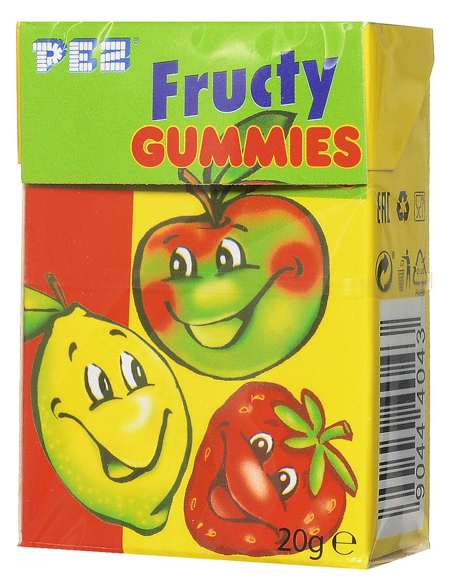 PEZ Fructy Gummies мармелад жевательный, 20 г pez fizzy конфеты фруктовые 30 г