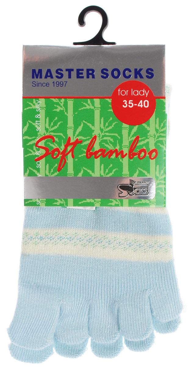 Носки женские Master Socks, цвет: голубой. 85680. Размер 23/2585680Стильные носки с отделениями для пальцев Master Socks, изготовленные из высококачественного комбинированного материала, очень мягкие и приятные на ощупь, позволяют коже дышать.Эластичная широкая резинка плотно облегает ногу, не сдавливая ее, обеспечивая комфорт и удобство. Носки оформлены лаконичными узорами.Оригинальные и комфортные носки великолепно подойдут к любой вашей обуви.
