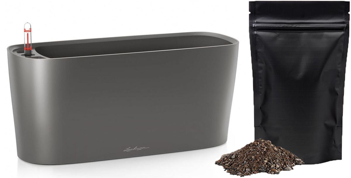 Кашпо с автополивом Lechuza Delta 20 40x15x18 см, антрацит + ПОДАРОК: Универсальный цветочный грунт In-Terra, объем 2 л15563_подарокLECHUZA DELTA объединяет технологии и дизайн: спрятанная в кашпо плавной, органичной формы, система автополива LECHUZA, надежно обеспечивает Ваши растения водой.Особые преимущества:- Сменный внутренний горшок с системой автополива- Высокое, узкое кашпо в виде колонны- Устойчиво и стабильно