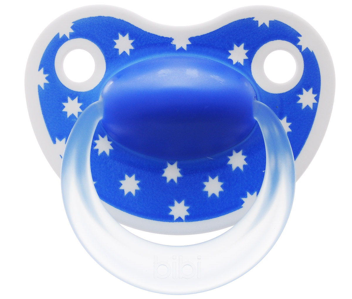 Bibi Пустышка силиконовая Happiness от 0 до 6 месяцев цвет синий
