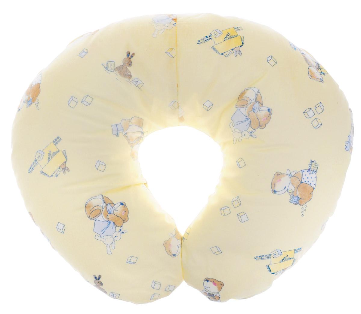 Plantex Подушка для кормящих и беременных мам Comfy Small Мишка и заяц цвет желтый