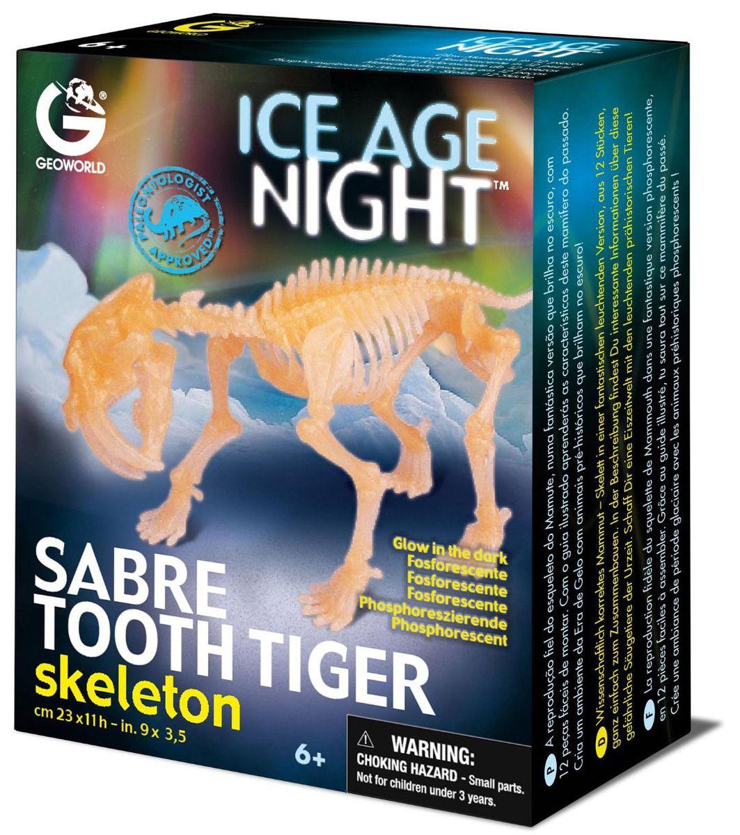 Geoworld Сборная модель Скелет саблезубого тигра