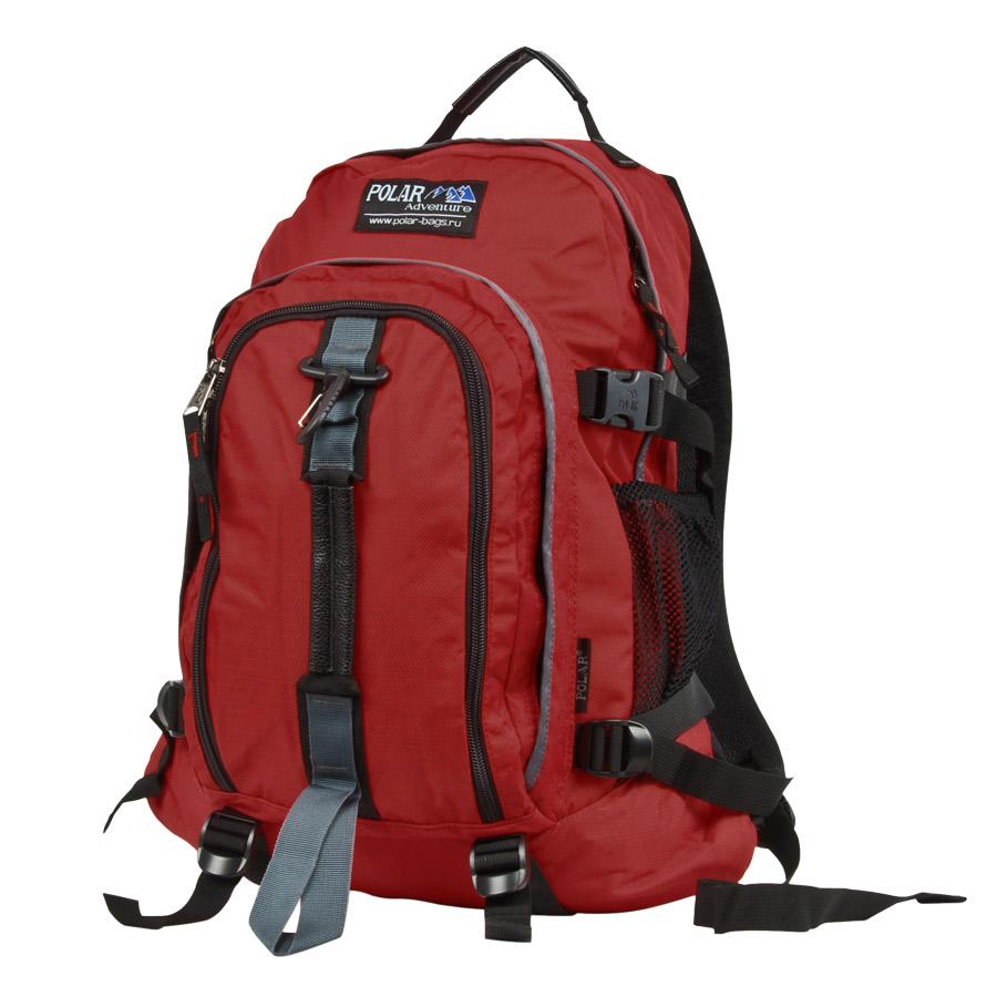 Рюкзак городской Polar, цвет: бордовый, 27 л. П3955-14 tatonka hy neck wallet black orange