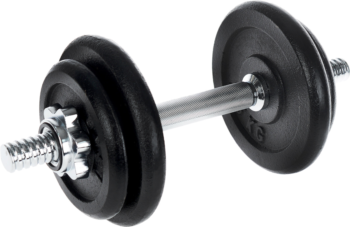 Гантель сборная Andy, с 4 сменными блинами, 10 кгW-331Сборная гантель Andy состоит из 4 дисков и хромированного грифа. Гантель помогает укрепить мышцы рук, грудной клетки, верхней части спины и плеч. Благодаря небольшому размеру гантель удобно хранить, она не займет много места в квартире.Внутренний диаметр дисков: 25 мм. В комплект входят 4 диска: 2 х 1,5 кг, 2 х 2,5 кг. Длина грифа: 35 см. В комплекте замок-гайка: 2 шт. Общий вес гантели: 10 кг.