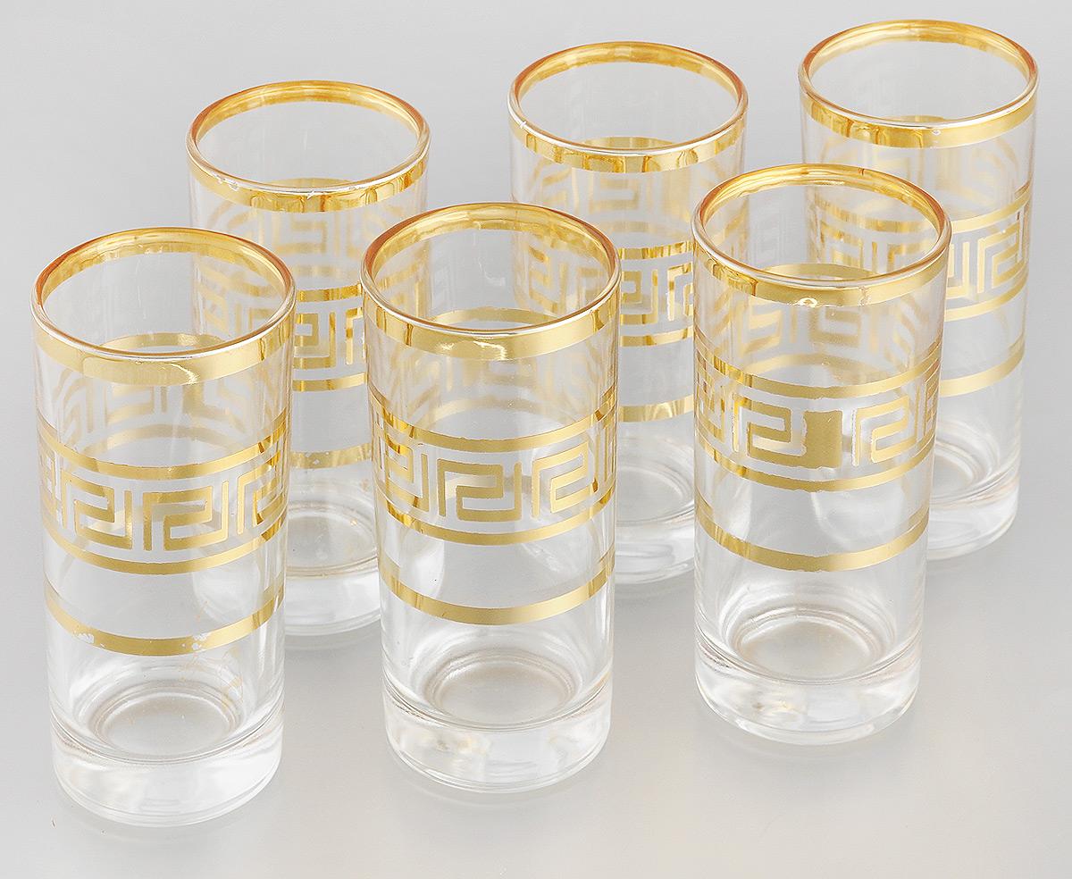 Набор стаканов Loraine, 260 мл, 6 шт24074Набор Loraine состоит из шести стаканов, выполненных из прочного высококачественного стекла. Изделия, декорированные золотистым орнаментом, сочетают в себе элегантный дизайн и функциональность. Стаканы предназначены для подачи воды, сока и других напитков. Они излучают приятный блеск и издают мелодичный звон. Такой набор прекрасно оформит праздничный стол и создаст приятную атмосферу за романтическим ужином.Не рекомендуется мыть в посудомоечной машине.Изделия подходят для хранения в холодильнике.Диаметр стакана (по верхнему краю): 6 см.Высота стакана: 13,7 см.