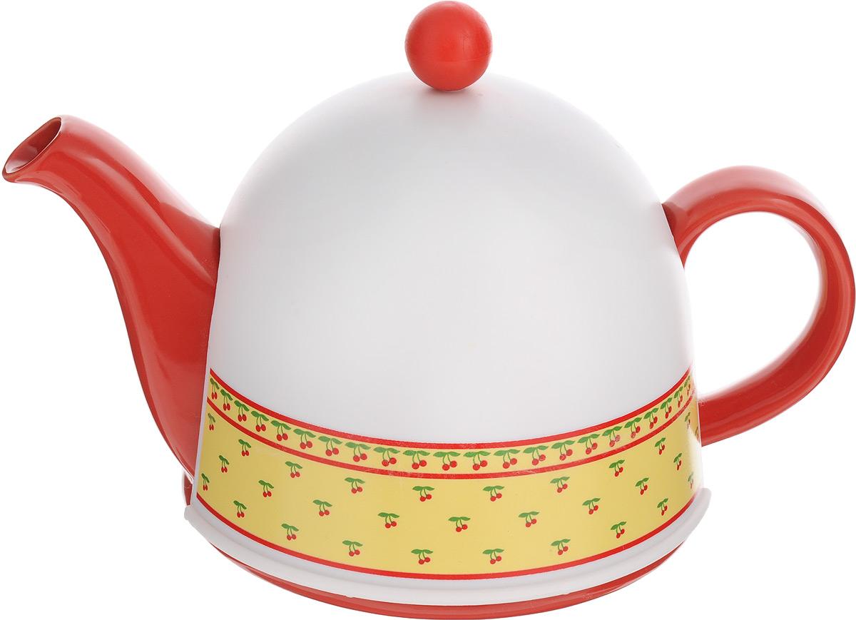 Чайник заварочный Mayer & Boch, с термоколпаком, с фильтром, 800 мл24307Заварочный чайник Mayer & Boch, выполненный из глазурованной керамики, позволит вам заварить свежий, ароматный чай. Чайник оснащен сетчатым фильтром из нержавеющей стали. Он задерживает чаинки и предотвращает их попадание в чашку. Сверху на чайник одевается термоколпак из пластика.Внутренняя поверхность термоколпака отделана теплосберегающей тканью. Он поможет дольше удерживать тепло, а значит, вода в чайнике дольше будет оставаться горячей и пригодной для заваривания чая. Заварочный чайник Mayer & Boch эффектно украсит стол к чаепитию, а также послужит хорошим подарком для ваших друзей и близких.Диаметр чайника (по верхнему краю): 6 см.Диаметр основания чайника: 14 см.Диаметр фильтра (по верхнему краю): 5,5 см.Высота фильтра: 5,8 см.Высота чайника (без учета термоколпака и крышки): 9,5 см.Размер термоколпака: 15 х 14 х 13,5 см.