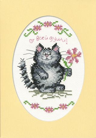 Набор для вышивания открытки крестом Марья Искусница