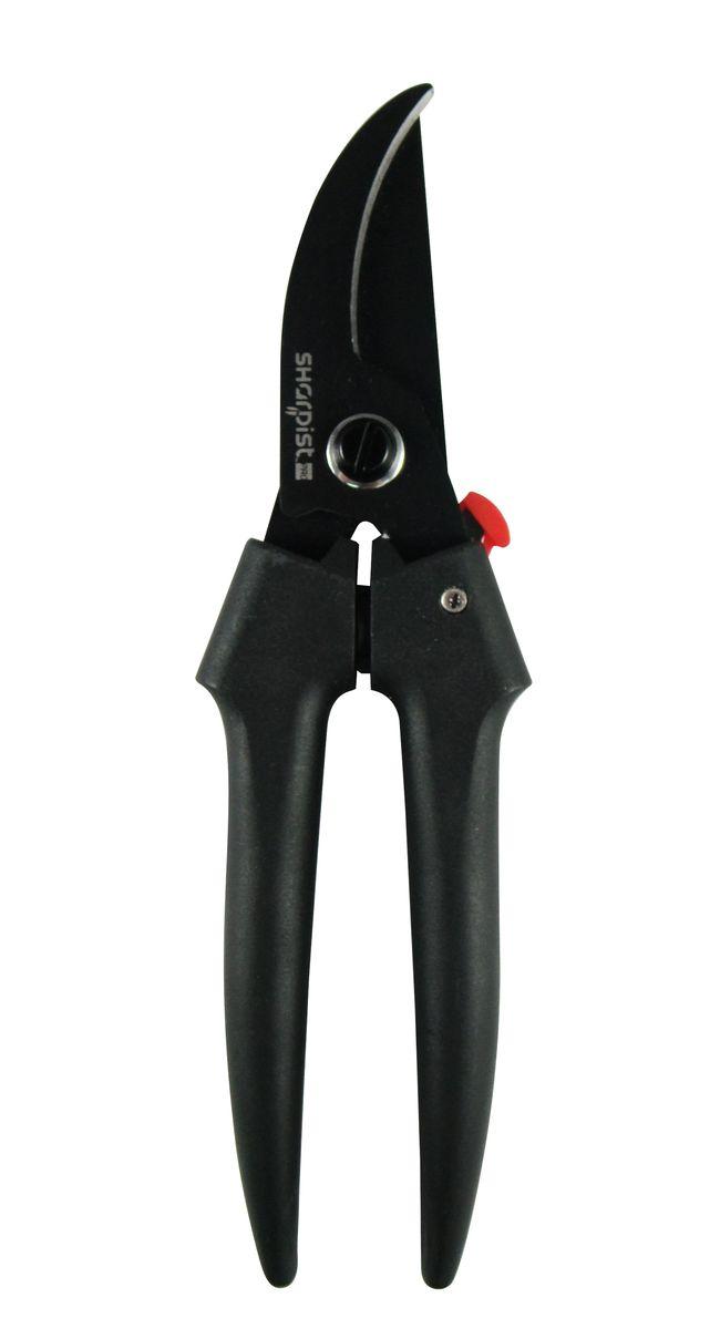 Ножницы Sharpist Pro, секатор, 19,1 см, цвет: черныйSPG3140Ножницы Sharpist Pro, секатор, выполнены из нержавеющей стали, имеют твердость 56+ HRC. Ножницы Sharpist, изготовленные из японской стали - это гарантия высокого качества по разумной цене. Sharpist - мы знаем свое дело, ваши ножницы будут острыми всегда. Не секрет, что с менее качественными ножницами вам необходимо несколько пар для разных целей, поскольку бумага быстро затупляет лезвие. Но с ножницами Sharpist вы можете забыть об этом раз и навсегда. Благодаря антибактериальному покрытию Everguard, отталкивающему клейкие и жирные вещества, эти ножницы являются незаменимым помощником на кухне.