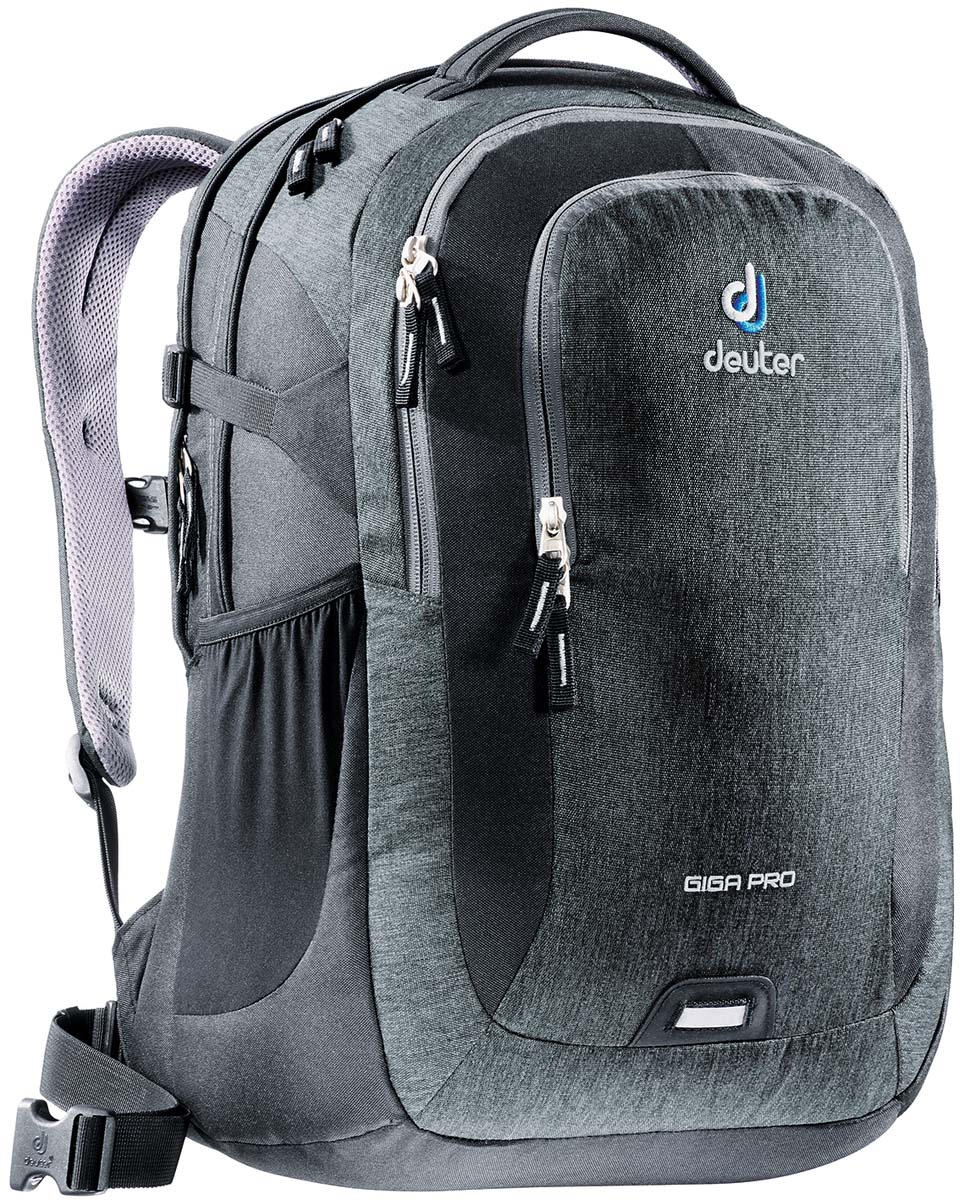 Рюкзак Deuter Daypacks Giga Pro, цвет: черный, серый, 31 л80434_7712Городской рюкзак Deuter Giga Pro правильный выбор для тех, кто ищет профессиональный рюкзак: все принадлежности идеально расположены и защищены.Имеется специальное мягкое съемное отделение для ноутбука. Система спинки Airstripes, большое основное отделение, в котором помещаются папки для бумаг , дно имеет мягкую подкладку, компрессионные стропы, удобная ручка для переноски, большой передний карман на молнии с органайзером, съемный набедренный ремень, петля с отражателем, второе основное отделение, со съемной мягкой сумкой под ноутбук 15,6 дюймов, боковой сетчатый карман.