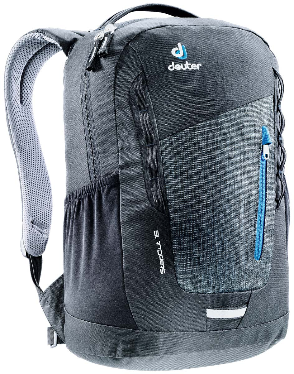 Рюкзак Deuter Daypacks StepOut 16, цвет: черный, серый, 16 л рюкзак deuter daypacks stepout 12 dresscode black