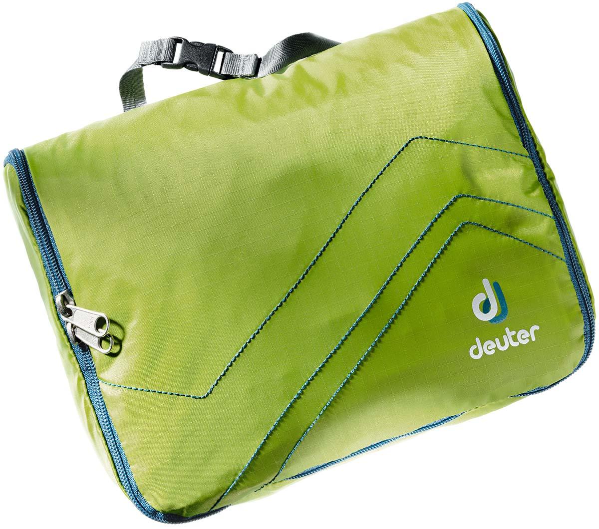 Косметичка Deuter Wash Center Lite I, цвет: темно-зеленый, серо-голубой, 15 см х 22 см х 6 см