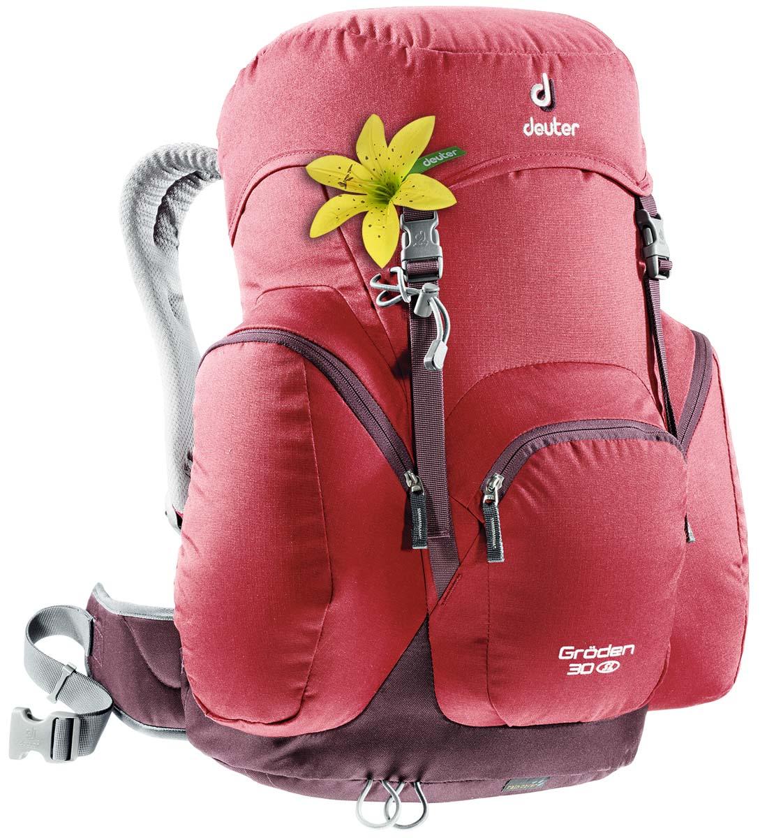 Рюкзак туристический Deuter Groden 30 SL, цвет: темно-красный, 30 л рюкзак deuter aircontact sl 50 10l 2017 blackberry aubergine