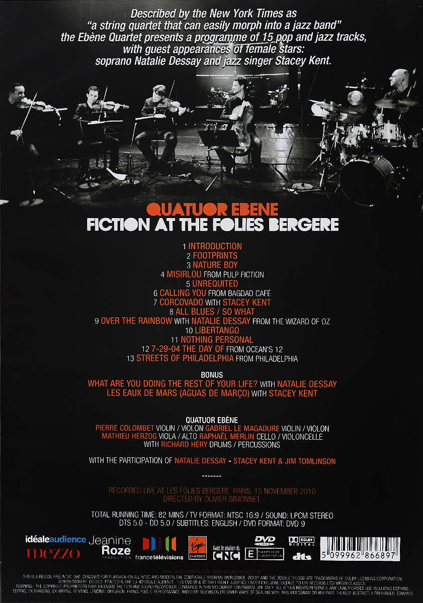 Quatuor Ebene:  Fiction At The Folies Bergere France Television