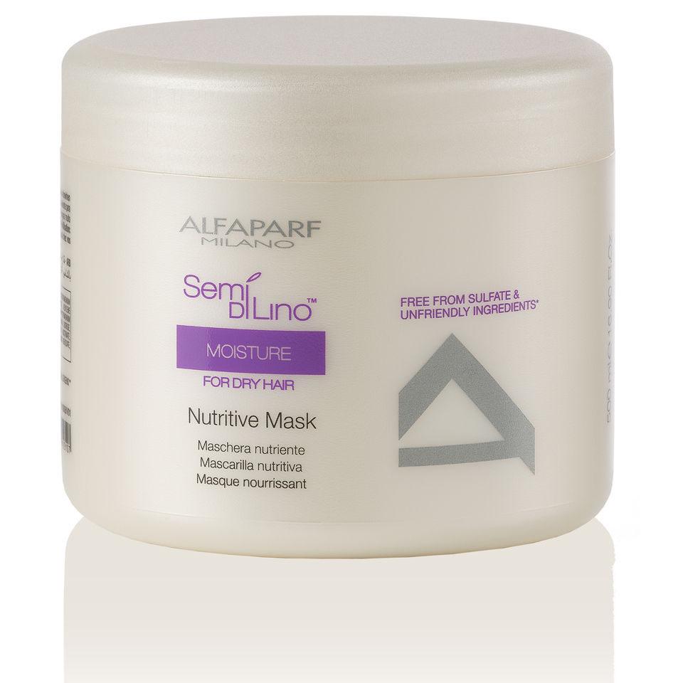 Alfaparf Маска для сухих волос Semi Di Lino Moisture Nutritive Mask 500 мл punti di vista nuance mask multiaction маска многофункциональная укрепляющая для волос 1000 мл