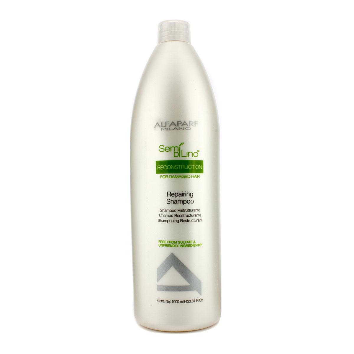 Alfaparf Шампунь для поврежденных волос Semi Di Lino Reconstruction Reparative Shampoo 1000 мл10014Alfaparf Semi Di Lino Reconstruction Reparative Shampoo Шампуньдля повреждённых волос разработан специально для повреждённых, ломких и слабых волос. Данное средство обеспечивает волосам тройной эффект способствует быстрому восстановлению повреждённых волос, усиливает их блеск, защищает естественный цвет волос.В состав шампуня Alfaparf SDL Reconstruction Reparative входит экстракт семени льна, который делает волосы блестящими, мягкими и гладкими, обеспечивая их лёгкое расчёсывание, а также экстракт бамбука, который позволяет реанимировать и увеличить гибкость волосяного стрежня. Шампунь Альфапарф SDL для повреждённых волос наделяет волосы здоровьем и блеском, сохраняя их естественный цвет. Подходит для типов волос: повреждённых, ломких и слабых.