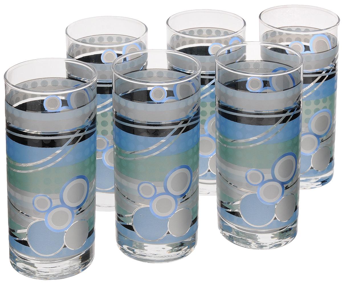 Набор стаканов Loraine, 370 мл, 6 шт. 2407824078Набор Loraine состоит из шести стаканов, выполненных из прочного высококачественного стекла. Изделия, декорированные оригинальным рисунком, сочетают в себе элегантный дизайн и функциональность. Стаканы предназначены для подачи воды, сока и других напитков. Они излучают приятный блеск и издают мелодичный звон. Такой набор прекрасно оформит праздничный стол и создаст приятную атмосферу за романтическим ужином.Не рекомендуется мыть в посудомоечной машине.Изделия подходят для хранения в холодильнике.Диаметр стакана (по верхнему краю): 6,5 см.Высота стакана: 14,5 см.