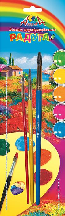 Апплика Набор кистей из волоса пони Радуга №1, 3, 5 (3 шт)С1102-01Кисти из набора Апплика идеально подойдут для детского творчества, художественных и декоративно-оформительских работ. Кисти из натурального ворса пони разных размеров предназначены для работы с акварелью, гуашью, тушью. Конусообразная форма пучка позволяет прорисовывать мелкие детали и выполнять заливку фона. В набор входят кисти №1, 3 и 5