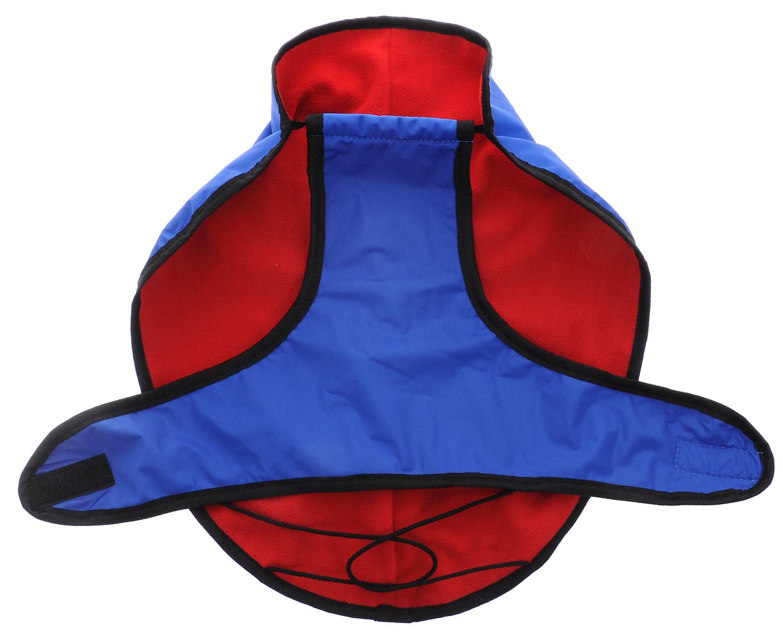 Попона для собак ЗооМарк, цвет: синий, черный кант, красный. Размер: 3 попона послеоперационная для собак тошка и к 5