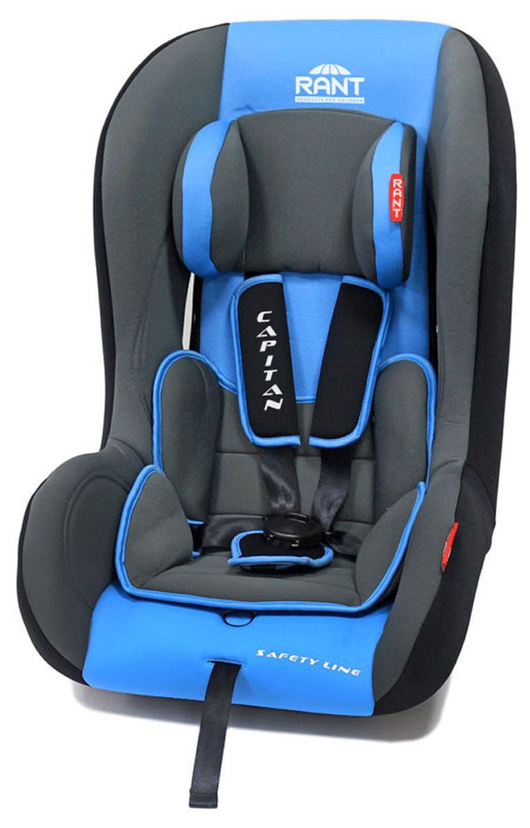 Rant Автокресло Capitan цвет синий до 25 кг4630008874424Детское автокресло Rant Capitan разработано для детей весом до 25 кг (приблизительно от рождения до 6-7 лет). Автокресло может устанавливаться как по ходу движения, так и против хода движения. Для новорожденного малыша автокресло фиксируется в автомобиле против хода движения (малыш лицом назад), пока малыш научится хорошо сидеть. С 7-8 месяцев автокресло устанавливается лицом вперед и эксплуатируется приблизительно до 5-6 лет (9-25 кг). Особенности: Удобное сиденье с мягким вкладышем делает кресло комфортным и безопасным для малышей. Усиленная боковая защита обеспечит безопасность ребенка от ударов при боковых столкновениях. Автокресло оснащено пятиточечными ремнями безопасности с мягкими плечевыми накладками (уменьшают нагрузку на плечи малыша). Накладки обеспечивают плотное прилегание и надежно удержат малыша в кресле в случае ударов. Ремни удобно регулировать под рост и комплекцию ребенка без особых усилий. Съемный чехол автокресла Capitan изготовлен из огнестойкой, гипоаллергенной эластичной ткани, легко чистится и стирается вручную или в деликатном режиме в стиральной машине при температуре 30°. Крепление и установка: Установка автокресла возможна в двух положениях: против хода движения (если малышу от 0 до 7-8 месяцев), ребенок фиксируется внутренними ремнями безопасности. По ходу движения (если малышу от 7-8 месяцев и до 5-6 лет), ребенок фиксируется автомобильными ремнями безопасности. Правильность прохождения автомобильных ремней безопасности обеспечивается специальными фиксаторами, предусмотренными по бокам автокресла. Безопасность: Корпус из ударопрочного пластика гарантируют защиту при боковых и фронтальных столкновениях. Пятиточечные ремни безопасности с мягкими плечевыми накладками надежно зафиксируют малыша в автокресле. Прочный и практичный замок фиксации ремней безопасности надежно удержит малыша при резких торможениях и толчках. Автокресло Capitan сертифицировано и соответствует требованиям Ев