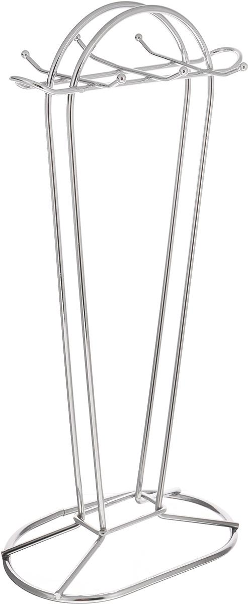"""Подставка для кухонных принадлежностей """"Mayer & Boch"""" изготовлена из хромированного металла. Подставка рассчитана на 6 приборов. Вы можете установить ее в любом удобном месте, такая подставка позволит аккуратно хранить изделия. Размер основания: 18 х 11 см.  Высота: 38 см."""