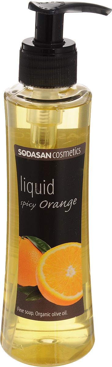 Жидкое мыло Sodasan Пряный апельсин, 250 мл жидкое мыло лаванда олива 300 мл sodasan