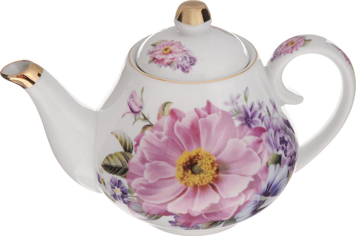 Чайник заварочный Loraine Пион, 1 л. 2455724557Заварочный чайник Loraine Пион изготовлен из высококачественной керамики. Внешние стенкиоформлены красочным изображением цветов.Отдельные элементы украшены золотистойэмалью.Чайник изысканно украсит стол к чаепитию и порадует вас лаконичным дизайном и качествомисполнения.Чайник упакован в подарочную коробку из плотного картона. Внутренняя часть коробкизадрапирована атласом, и чайник надежно крепится в определенном положении благодаряособым выемкам в коробке.Диаметр чайника по верхнему краю: 8 см.Диаметр основания: 7,5 см.Высота чайника (с учетом крышки): 15,5 см.Высота чайника (без учета крышки): 11,5 см.