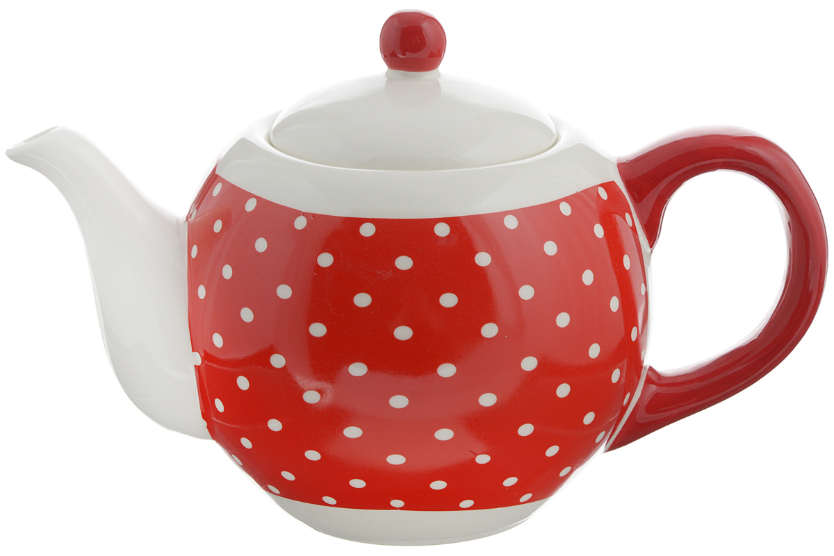 Чайник заварочный Loraine Красный узор, 950 мл. 2585825858Заварочный чайник Loraine изготовлен доломитовой керамики высокого качества. Гладкая илегкая в очистке поверхность. Изделие прекрасно подходит для заваривания вкусного иароматного чая, травяных настоев. Оригинальный дизайн сделает чайник настоящим украшениемстола. Он удобен в использовании и понравится каждому.Можно мыть в посудомоечной машине. Не боится низкихтемператур. Диаметр чайника (по верхнему краю): 8,5 см. Диаметр основания чайника: 7 см. Высота чайника (без учета крышки): 11,5 см. Высота чайника (с учётом крышки): 15,5 см.