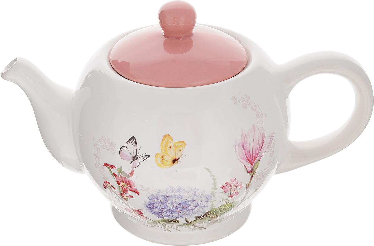 Чайник заварочный Loraine Бабочки, цвет: белый, розовый, 950 мл25637Заварочный чайник Loraine Бабочки изготовлен из доломита и декорирован изображением цветов и бабочек. Чайниксочетает в себе стильный дизайн с максимальнойфункциональностью. Красочность оформленияпридется по вкусу и ценителям классики, и тем, ктопредпочитает утонченность и изысканность. Чайник поможет заварить крепкий ароматныйчай и великолепно украсит стол к чаепитию.Диаметр чайника (по верхнему краю): 9,5 см.Высота чайника (без учета крышки): 12 см.