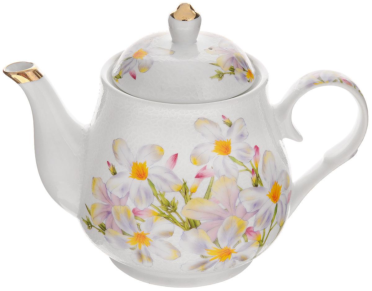 Чайник заварочный Loraine Ромашка, 1 л21139Заварочный чайник Loraine Ромашка изготовлен из высококачественной керамики. Съемное ситечко не позволит при заваривании попасть чаинкам в напиток. Чайниксочетает в себе стильный дизайн с максимальнойфункциональностью. Красочность оформленияпридется по вкусу и ценителям классики, и тем, ктопредпочитает утонченность и изысканность. Чайник поможет заварить крепкий ароматныйчай и великолепно украсит стол к чаепитию.Диаметр чайника (по верхнему краю): 9,5 см.Высота чайника (без учета крышки): 12 см.Высота ситечка: 5 см.