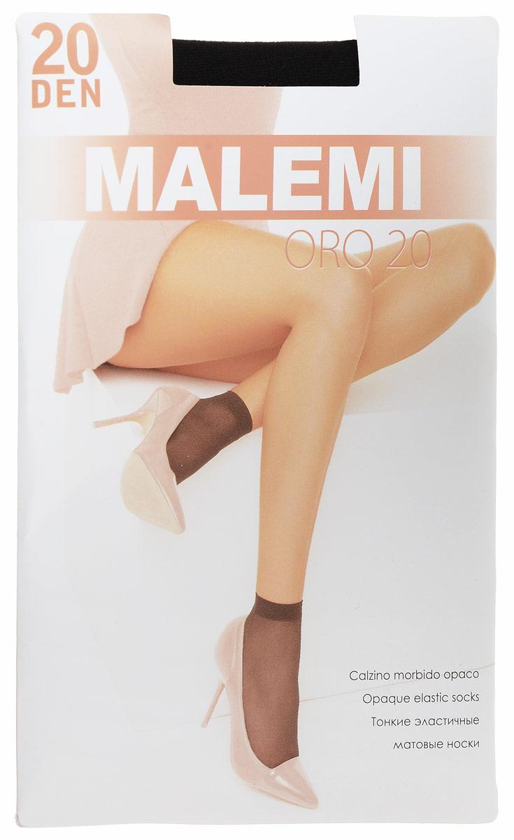 Носки женские Malemi Oro 20, цвет: Nero (черный), 2 пары. 9062. Размер универсальный гольфы женские malemi soft 40 цвет nero черный 9067 размер универсальный